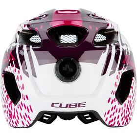 Cube Fink Helm Kinder white'n'violette